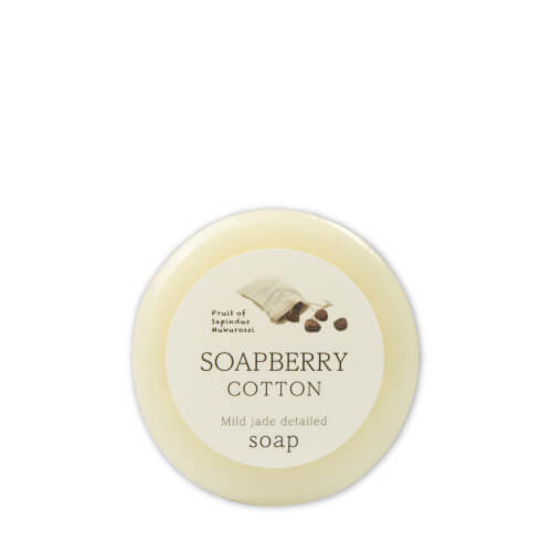 SOAPBERRY COTTON Mild jade detailed soap 古宝無患子石鹸
